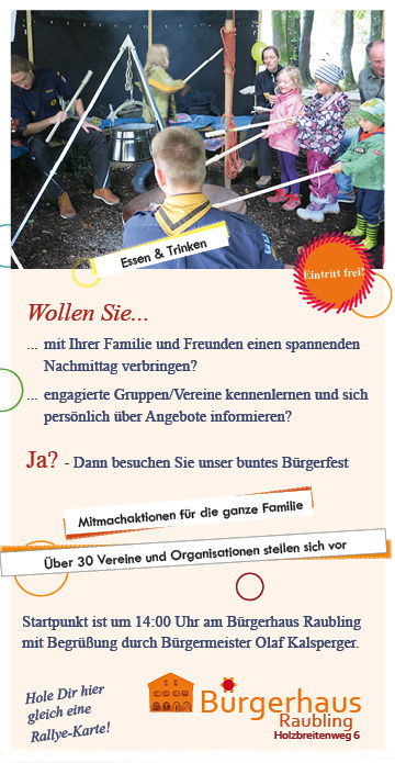Buergerfest Raubling Angebote