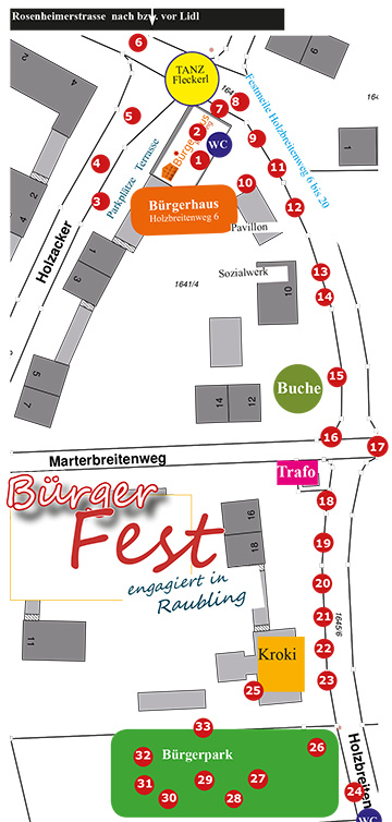 Buergerfest Raubling Lageplan